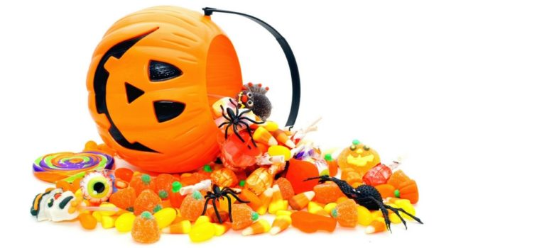 picture of pumpkin spilling candy for candy buy back